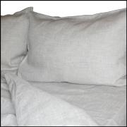 Льняной комплект постельного белья 110х140