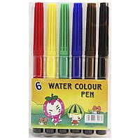 """Фломастеры для рисования на бумагеSAT """"Water colors pen"""" 6 шт."""