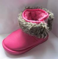 Детские зимние угги для девочки. Цвет: малина