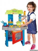 Кухня детская игрушечная электронная 008-26 голубая и розовая