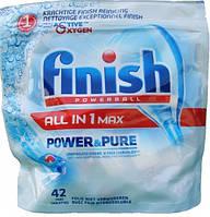 Таблетки для посудомойки FINISH ALL in 1 MAX POWER & PURE (42 шт)