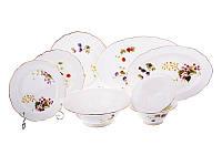 Столовый набор тарелок (18 шт), салатников (3 шт) и блюд (2 шт) фарфоровый 23 предметов 586-310