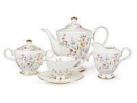 Набор чайный фарфоровый 15 предметов 200 мл  586-314