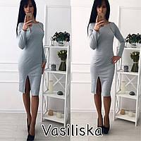 Женское модное повседневное платье с молниями и разрезом (4 цвета)