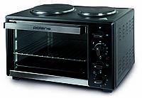Мини — духовка с электроплитой POLARIS PTO 0235 GLHP