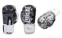 Перчатки боксерские Кожа Everlast черный р 10