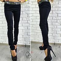 Женские модные брюки черного цвета