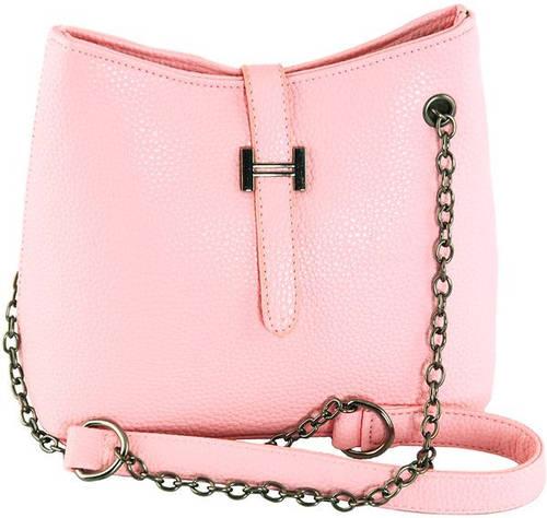 Женская яркая сумка через плечо из искусственной кожи Traum 7220-12, розовый