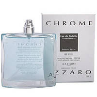 Мужская туалетная вода Azzaro Chrome for Men Eu de Toilette (EDT) 100ml, Тестер (Tester)