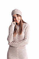 Женская шапка ажурной вязки, фото 1