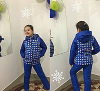 """Детский зимний костюм с курточкой на флисе """"Микки"""" в расцветках"""