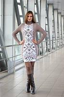 Молодежное приталенное платье