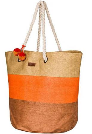 Женская пляжная соломенная сумка ROXY (ARJBP03085) SUN SEEKER J PRHB'15 888256822962 песочный