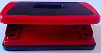 Дырокол Пластиковый с резиновой вставкой Красный ВМ4001-05 Buromax Украина