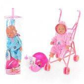 Кукла-пупс в наборе с аксессуарами и коляской BB RT 07-02