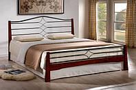 """Кровать """"Флоренс"""" двуспальная из натурального дерева и метала"""