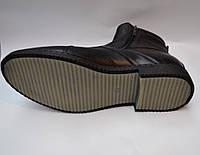 Мужские модельные зимние кожаные ботинки, KARAT, черные,высокие, на две змейки