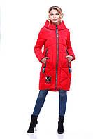 Куртка молодежная удлиненная К-1 красная