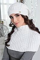 Зимний женский комплект «Идилия» (берет и шарф-хомут)