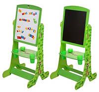 Детский мольберт 3в1, Зеленый