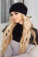 Зимний женский комплект «Эмили» (шапка-колпак и шарф-хомут) Терракотовый