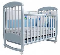 Детская кроватка Соня ЛД1 Верес (патина морская глазурь)