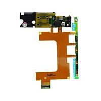 Шлейф для Sony C5502 M36h Xperia ZR/C5503, с кнопкой включения, с кнопками громкости, с полифоническим динамик