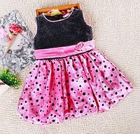 Красивое нарядное платье для девочки, рост 80, 90, 100 см