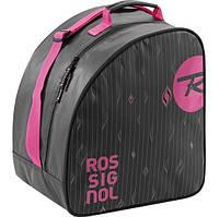 Сверхпрочная женская сумка для горнолыжных ботинок Rossignol (RKDB400) W BOOT BAG 3607681642078 черный/розовый