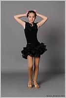 Юбка детская для танцев «Индиго»