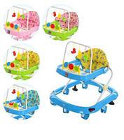 Детские ходунки  M0541. Свет, звук, колеса, 3 цвета