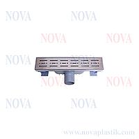 Трап линейный нержавеющая сталь 70х300 5071 Nova (Турция)