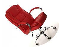Офисное кожаное кресло MIDO красное