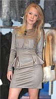 Платье с болеро цвета хаки S 0101
