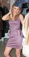 Платье с болеро сиреневого цвета S 0404