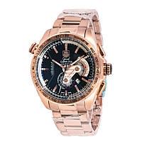 Механические часы TAG Heuer - Carrera Caliber 36 цвет корпуса золотистый, стальной браслет