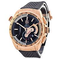 Мужские часы TAG Heuer - Carrera Caliber 36 цвет корпуса золотистый, каучуковый ремешок