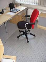 Коврик под стул прозрачный / Защитный коврик под офисное кресло / Коврик под  кресло 100х125 см, 0.6 мм