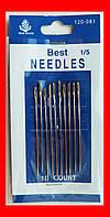 Иглы для вышивания №1/5 острые концы, набор 10 шт