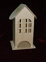 Чайный домик для декупажа (заготовка) широкая арка (10 х 10 х 23 см)