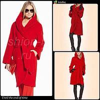 Женское пальто Моника на запах с капюшоном