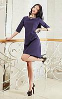 Восхитительное женское платье темно-синего цвета, фото 1