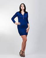 Теплое и мягкое платье насыщенного цвета, фото 1