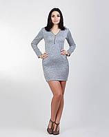 Серое платье приталенного фасона, фото 1