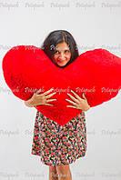 Большое мягкое плюшевое сердце подушка 100см