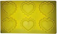 Силиконовая форма для выпечки кексов 6 сердечек Empire ЕМ 7185, 30*17.2*2 см