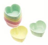 """Набор силиконовых форм для выпечки кексов """"Сердечки"""" Empire ЕМ 7189, 8 шт"""
