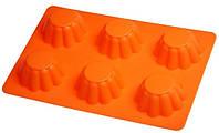 Силиконовая форма для выпечки кексов 6 штук Empire ЕМ 9825