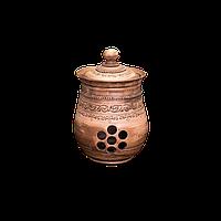 Горшок (кошник) для хранения глиняный Шляхтянский AG22 Покутская керамика 3 литра