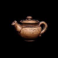 Чайник глиняный Шляхтянский AG04 Покутская керамика  Фиксированная, 0,75 литра